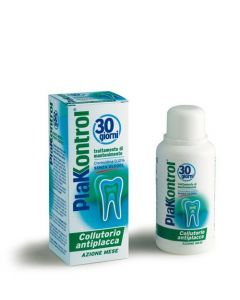 Apa de gura PlaKKontrol Clorhexidina 0,12% tratament 30 zile 250ml
