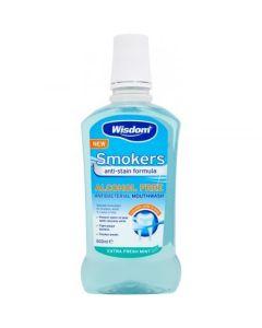 Apa de gura Wisdom pentru fumatori, albire naturala fara Alcool 500ml