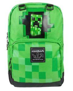 Ghiozdan Minecraft ORIGINAL licenta Jinx 44cm Creeper Green