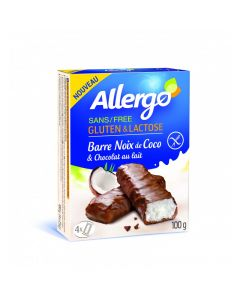 Baton ciocolata-cocos 100g Allergo fara gluten & lactoza