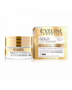 Crema de zi si noapte Eveline 24K Gold Lift Expert 50+ 50ml