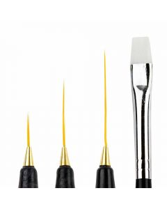 Set pensula 4 bucati pentru pictura unghii