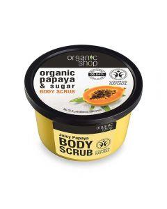 Scrub de corp Organic Shop Juicy Papaya 250 ml