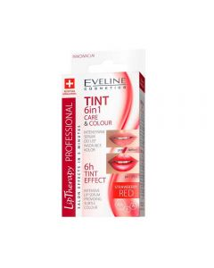 Tratament buze Eveline Lip Therapy 6 in 1 Care and Colour Tint Red 12 ml