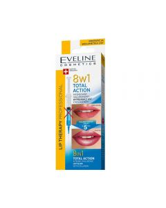 Tratament buze Eveline Lip Therapy 8 in 1 Total Action Intense Hyaluronic with Collagen