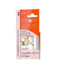 Balsam de buze Eveline Lip Therapy Vaseline Sweet Coconut