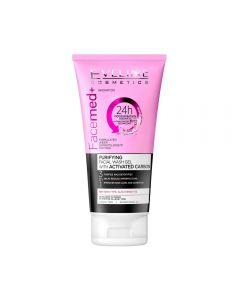 Gel curatare faciala Eveline Facemed cu carbon 150 ml