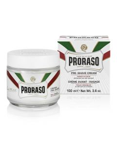 Pre Shave Cream Proraso Sensitive cu ceai verde si ovaz 100 ml