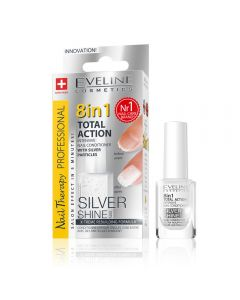 Tratament unghii 8 in 1 Eveline Nail Therapy Professional Silver Shine 12 ml