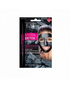 Masca de fata Eveline Facemed Hydra Detox 8in1 5 ml