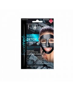 Masca de fata Eveline Facemed Matt Detox Carbon 8in1 5 ml