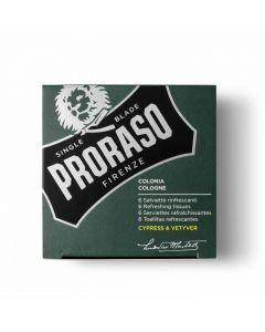 Servetele revigorante Proraso Cypress & Vetyver