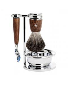 Set de barbierit: aparat ras Fusion,pamatuf par bursuc,maner lemn frasin S81H220SF