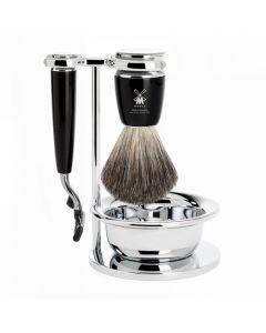 Set de barbierit: aparat ras Mach3,pamatuf par bursuc,maner rasina S81M226SM3