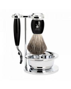Set de barbierit: aparat ras Mach3,pamatuf par bursuc,maner rasina S81M336SM3