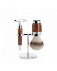 Set de barbierit, pamatuf silvertip badger, aparat ras clasic, maner lemn tuia S31H71SR