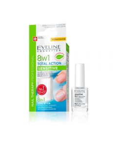 Tratament unghii Eveline 8in1 Sensitive 12 ml