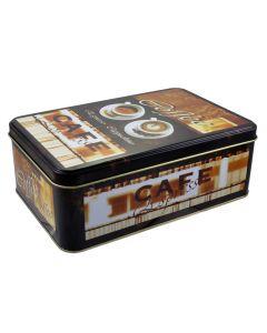 Cutie metalica depozitare alimente cu capac, recipient etans pentru cafea, Evo, 1.5 L