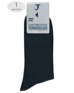 Sosete barbatesti pentru costum, Torreggiani, 38-44, bleumarin, 100% bumbac
