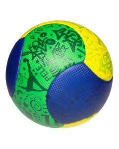 Minge fotbal de plaja, Pele, albastru/verde/galben, marimea 5