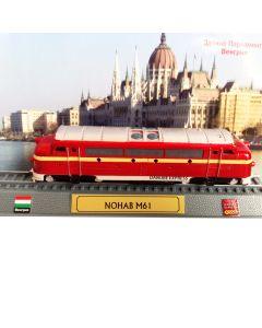 Macheta Locomotiva M61 Danube Express NOHAB, Minimodel feroviar de colectie, rosu, Scara 1:160