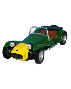 Macheta auto de colectie, Lotus Seven, Minimodel metal - plastic, verde, Scara 1:43