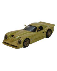 Macheta auto de colectie, Panoz Esperante GTR-1, Minimodel metal - plastic, auriu, Scara 1:43