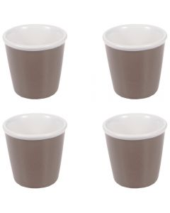 Set 4 suporturi ceramica servire oua fierte, apritive, sos, desert, gri, h 4.8 cm x d 5.3 cm, Gusta