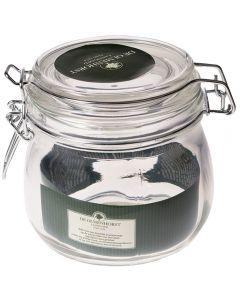 Borcan de sticla cu capac, inel cauciuc si inchidere ermetica cu 2 cleme metalice, 500 ml, d 9.5 cm, h 9.5 cm, borcan dulceata, De Olmenhorst