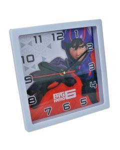 Ceas de perete patrat, rama alba, model desene animate Big Hero, 1-38, Maxx