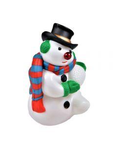 Decoratiune Craciun, model om de zapada cu nas luminos, se poate lipi cu banda dublu adeziva, multicolor, h 12cm, Maxx
