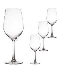Set 4 pahare de vin, cu picior, cristal, 520 ml, Baroli Emozione
