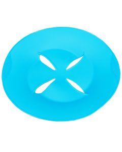 Capac universal pentru gatit la aburi si colectare spuma, silicon, protejare incalzire la microunde, Lifetime Cooking, 27 cm, albastru