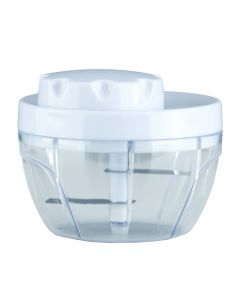 Tocator manual, chopper manual pentru tocat legume / fructe, tocator manual universal, maruntitor, mixer, 2 lame, plastic / inox, alb, Maxx