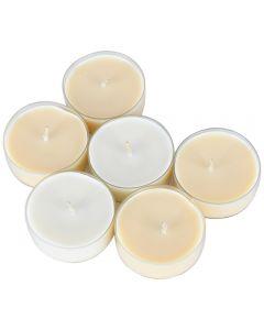 Lumanari parfumate pastila cu aroma de vanilie, Muller, set de 6 pastile colorate, d 5.5 cm