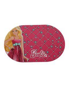 Napron/placemat pentru copii cu model Barbie, plastic, 43.5 x 27.5 cm, suport farfurie pentru copii, Disney