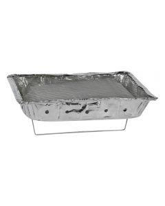 Gratar utilizare rapida, set barbeque, tava aluminiu, carbune, BBQ, gratar unica folosinta, 31 x 24 x 5 cm