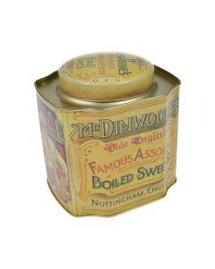 Cutie metalica pentru alimente, recipient cu capac, pentru ceai, cafea, dulciuri, model vintage, Maxx, 1.5 L, multicolor, 12x10.5x12.3 cm