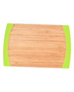 Tocator bambus cu margine antialunecare din silicon, BergHOFF, dreptunghiular, 35 x 23 x 1.5 cm, platou servire, farfurie bambus servire
