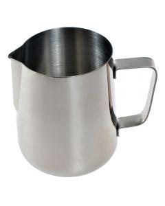 Cana din inox, latiera pentru spumare cu maner, cana de lapte sau cappucino, cu cioc, cana pentru bar, cana barista, 350 ml, h 8.5 cm, Maxx