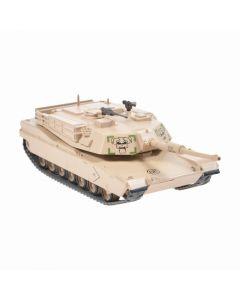 Macheta militara de colectie, masina de razboi minimodel Tanc M1 Abrams, Eaglemoss, crem, Scara 1:72