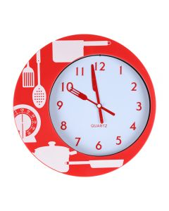 Ceas de perete pentru bucatarie, Splendid, model ustensile bucatarie, 24 cm