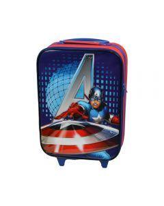 Troler cabina copii, Model Avengers, Disney-Captain America, rosu-albastru, 47 x 32 x 16 cm