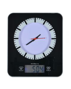 Cantar digital max 5 Kg, ceas, timer si termometru, cantar bucatarie cu diviziune 1 g, ceas cu cronometru, Vivess