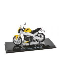 Macheta moto de colectie, motocicleta model Buell Lightning XB-9S, Atlas, galben-negru, Scara 1:24