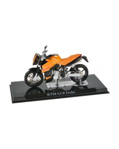 Macheta moto de colectie, motocicleta model KTM LC8 Duke, Atlas, portocaliu, Scara 1:24