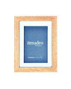 Rama foto, lemn, pentru poza 10 x 15 cm, rama de birou, clasica, pentru fotogarfie, dimensiune rama 20.5 x 16 x 3 cm, Amadeo, maro