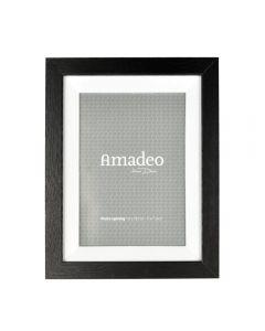 Rama foto, lemn, pentru poza 13 x 18 cm, rama de birou, clasica, pentru fotogarfie, dimensiune rama 23 x 18 x 3 cm, Amadeo, negru