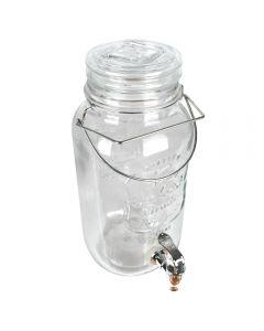 Borcan cu robinet, 4 L, dozator sticla cu robinet, recipient sticla cu canea, d 15 cm, h 31 cm, Ice Cold Drink
