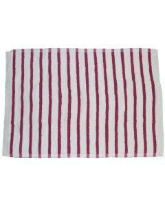 Covoras de baie, bumbac, Trendhopper, alb cu roz, 90 x 60 cm